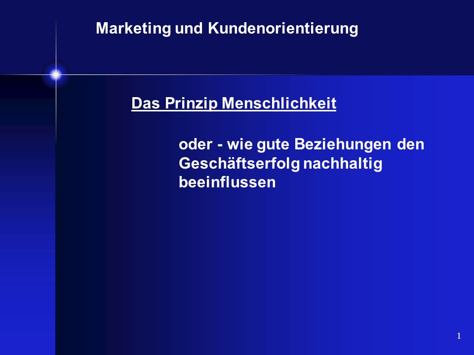 Marketing und Kundenorientierung