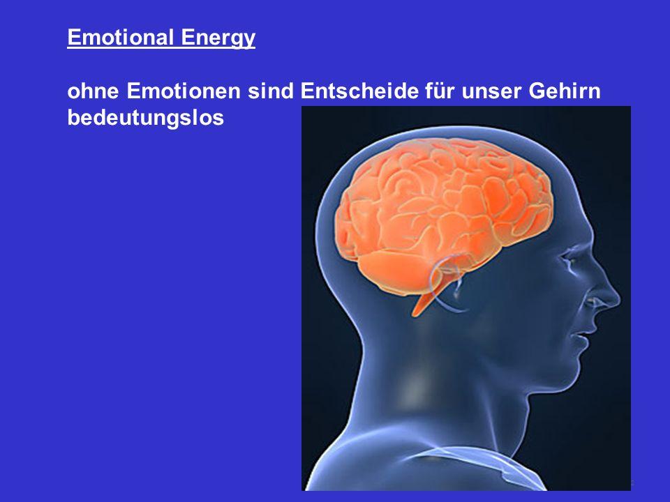 Emotional Energy ohne Emotionen sind Entscheide für unser Gehirn bedeutungslos
