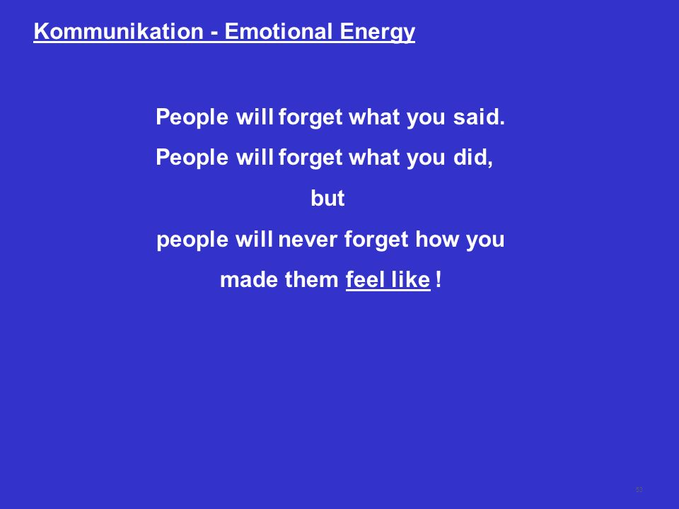 Kommunikation - Emotional Energy