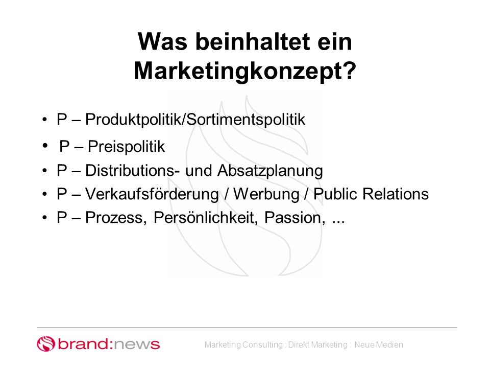 Was beinhaltet ein Marketingkonzept