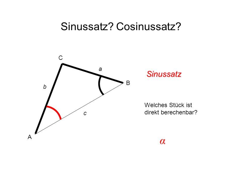 Sinussatz Cosinussatz