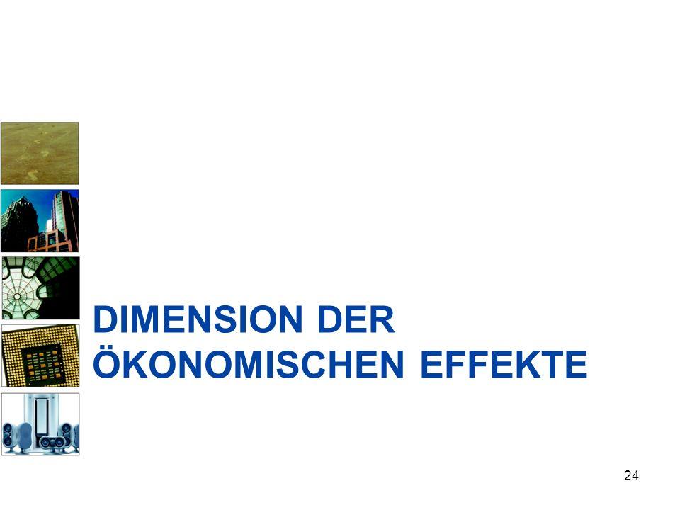 Dimension der ökonomischen Effekte