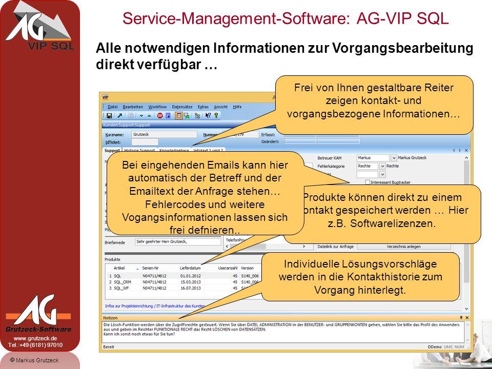 Alle notwendigen Informationen zur Vorgangsbearbeitung direkt verfügbar …