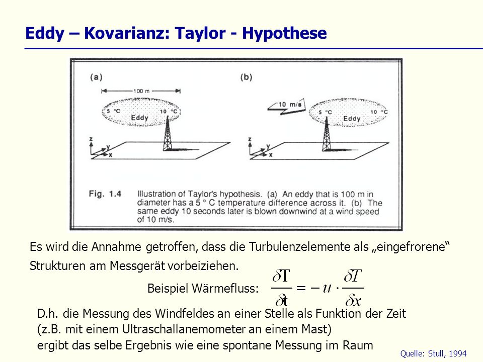 Eddy – Kovarianz: Taylor - Hypothese