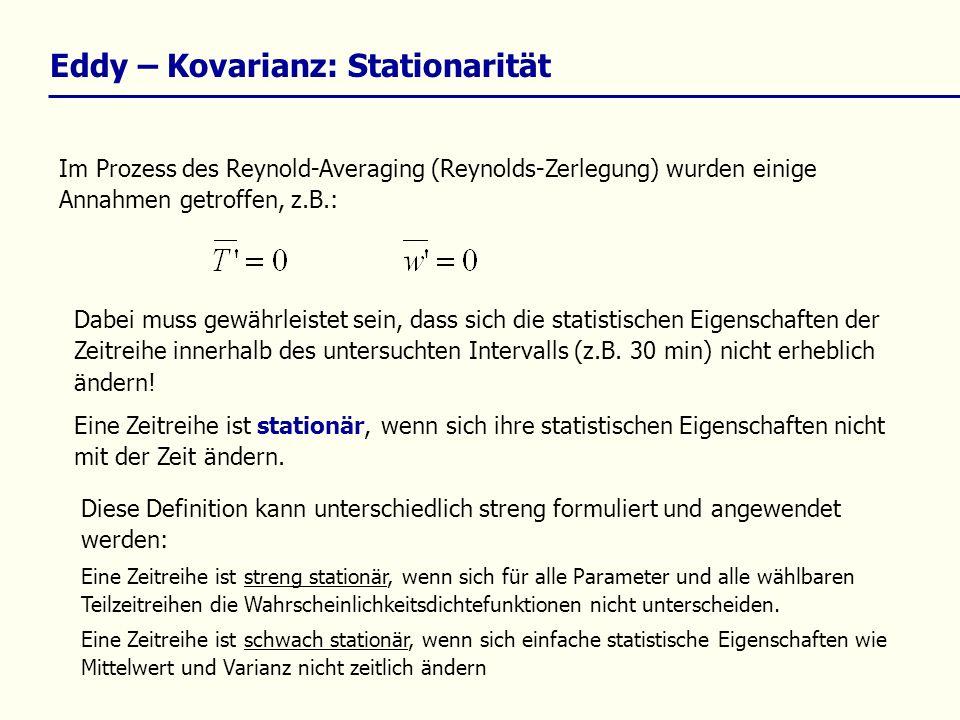 Eddy – Kovarianz: Stationarität