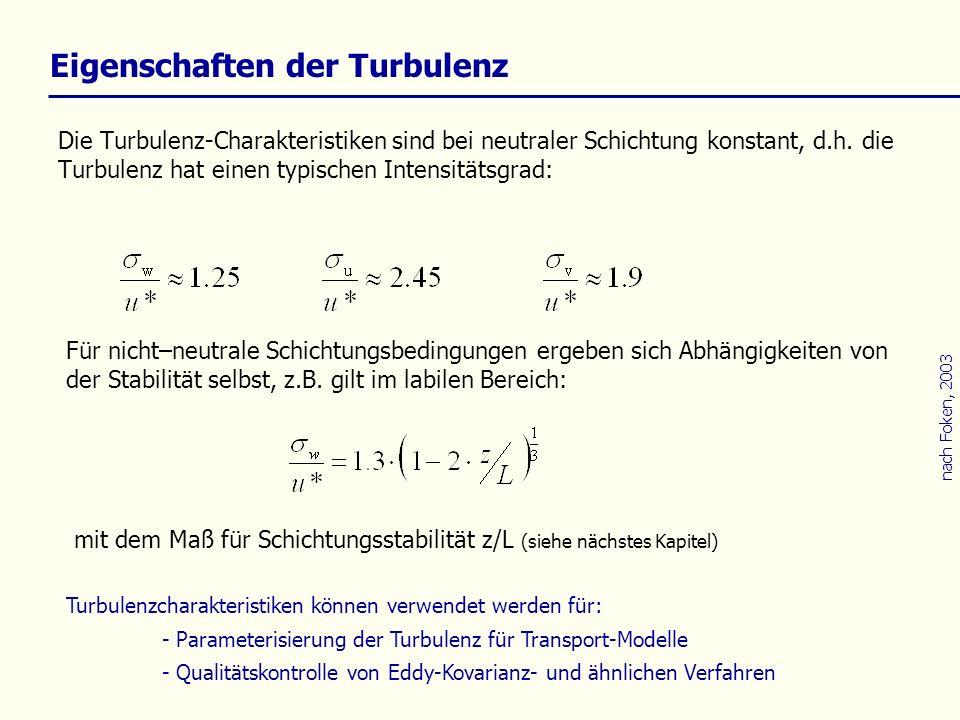 Eigenschaften der Turbulenz