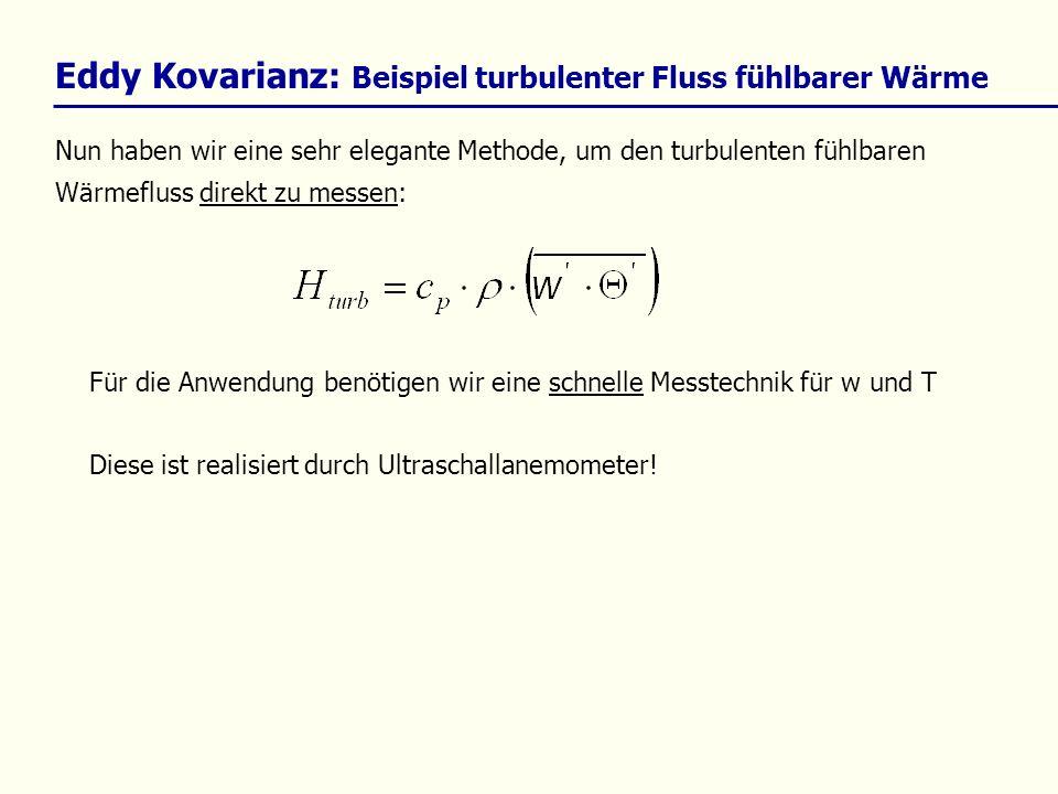 Eddy Kovarianz: Beispiel turbulenter Fluss fühlbarer Wärme