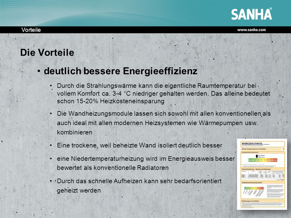 deutlich bessere Energieeffizienz