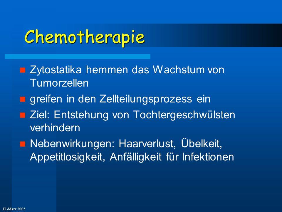 Chemotherapie Zytostatika hemmen das Wachstum von Tumorzellen