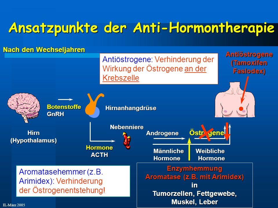Ansatzpunkte der Anti-Hormontherapie