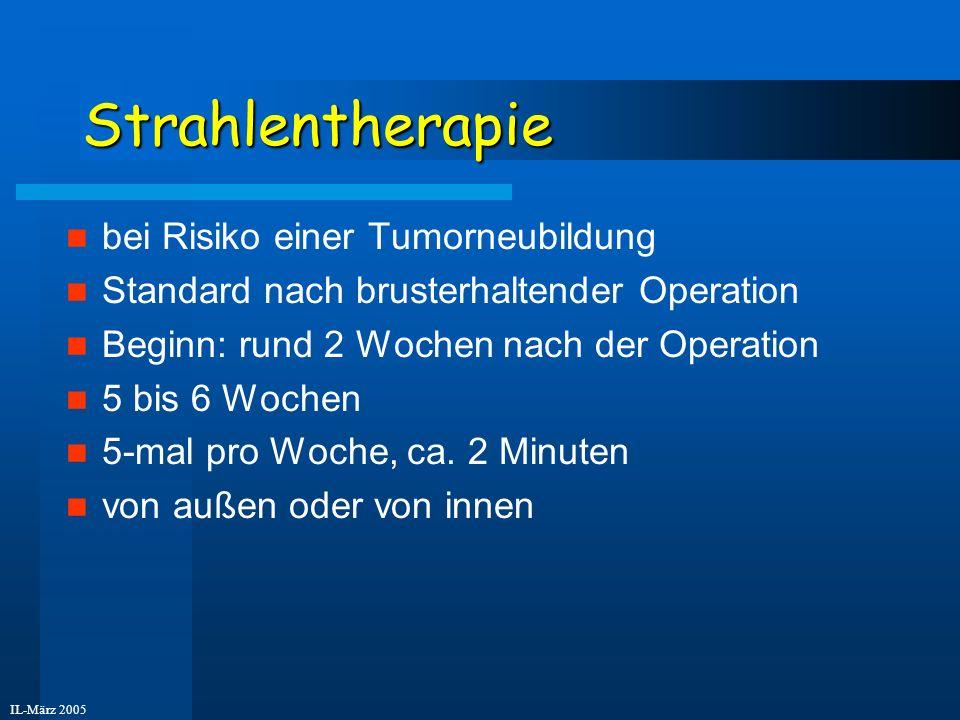 Strahlentherapie bei Risiko einer Tumorneubildung