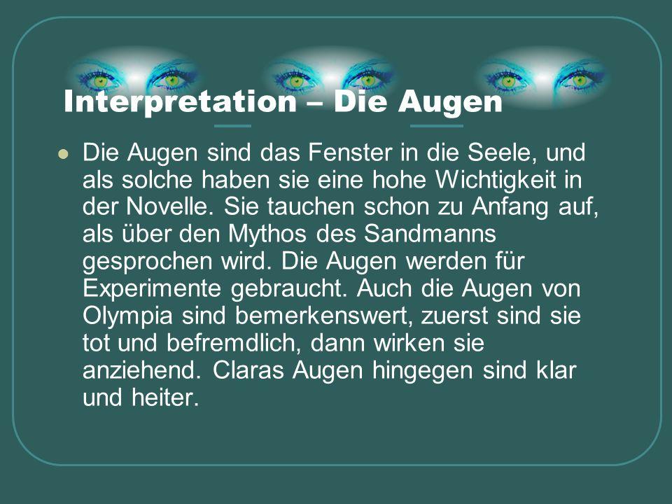 Interpretation – Die Augen