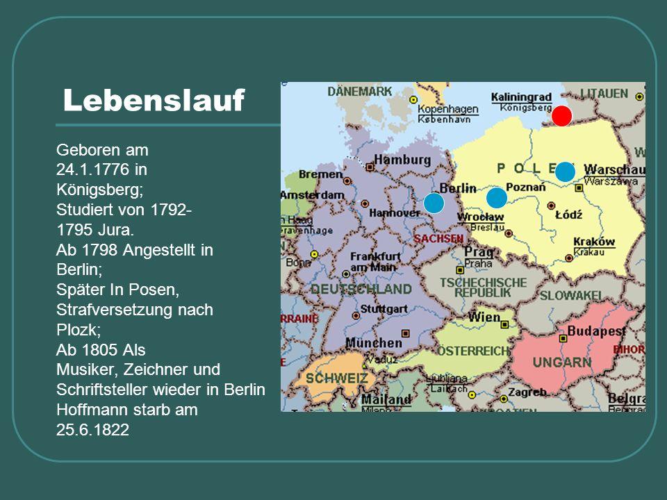 Lebenslauf Geboren am 24.1.1776 in Königsberg; Studiert von 1792-