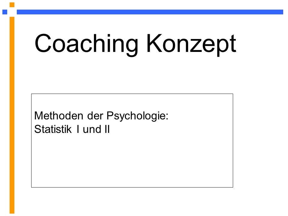 Methoden der Psychologie: Statistik I und II