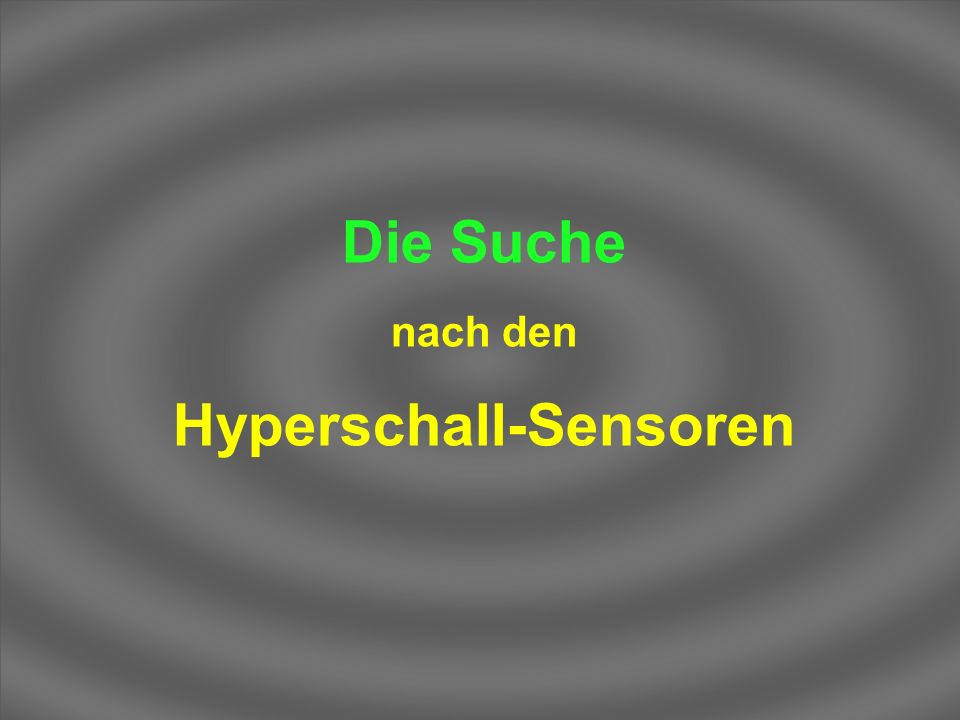 Hyperschall-Sensoren