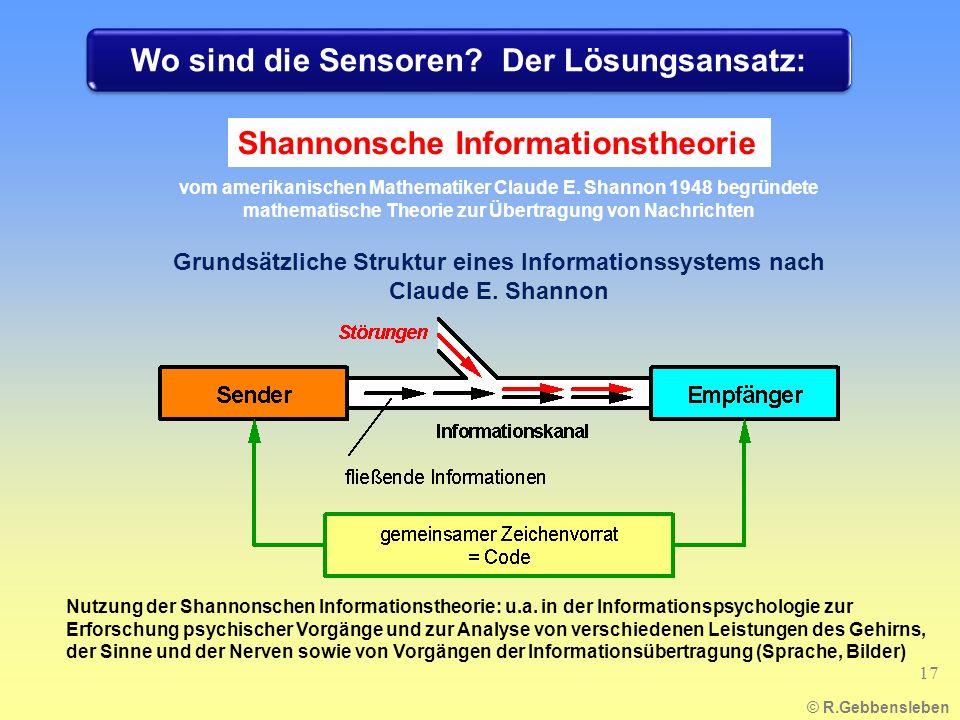Wo sind die Sensoren Der Lösungsansatz: