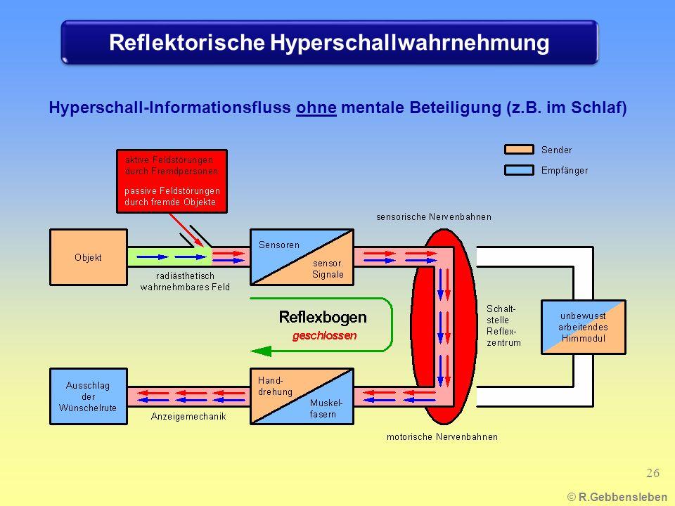 Reflektorische Hyperschallwahrnehmung