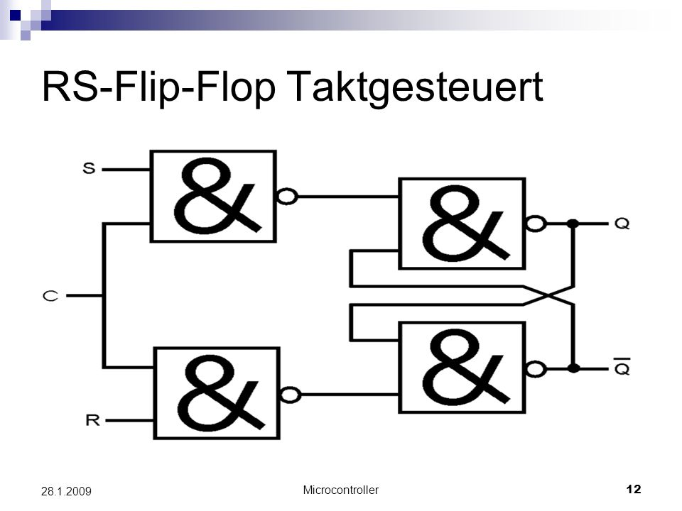 RS-Flip-Flop Taktgesteuert