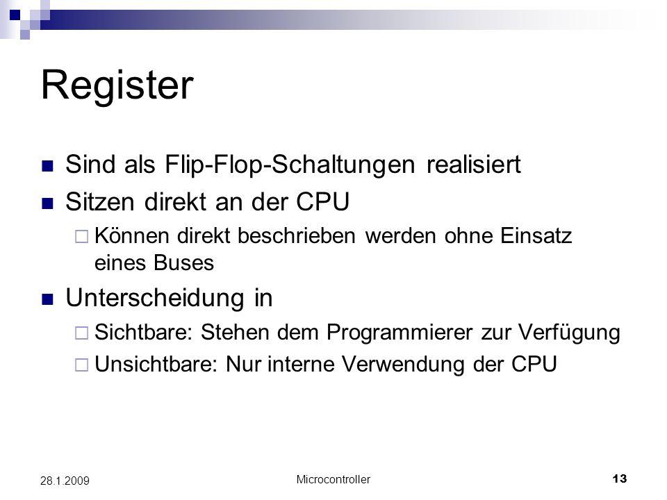 Register Sind als Flip-Flop-Schaltungen realisiert