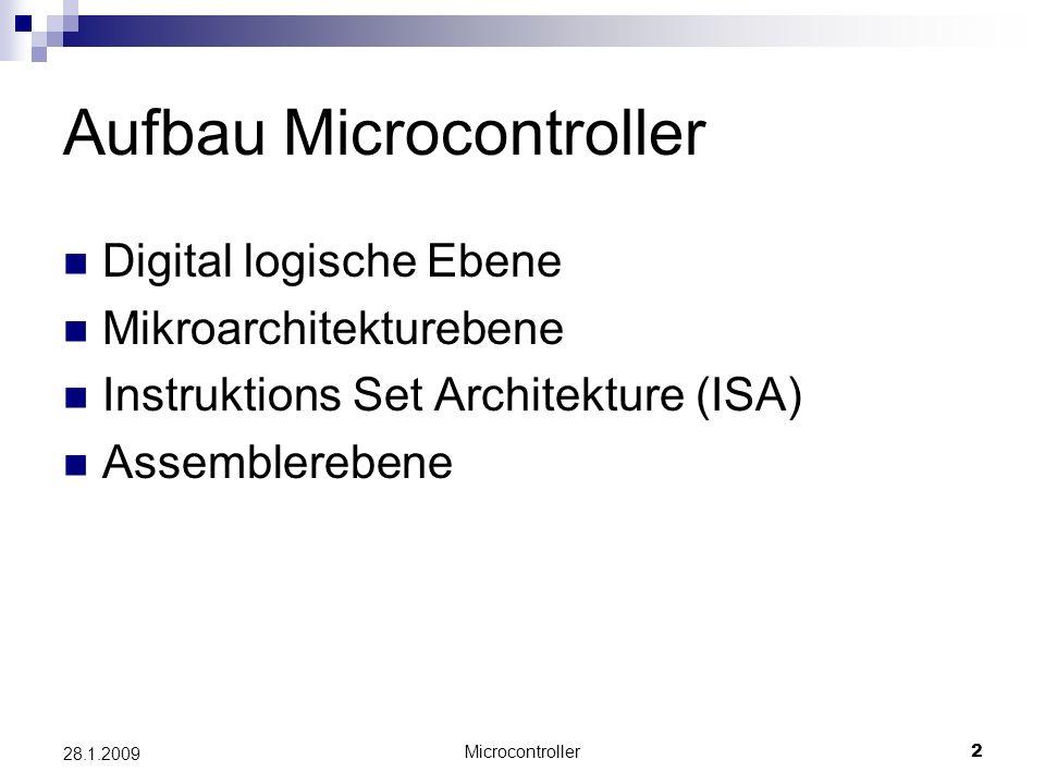 Aufbau Microcontroller