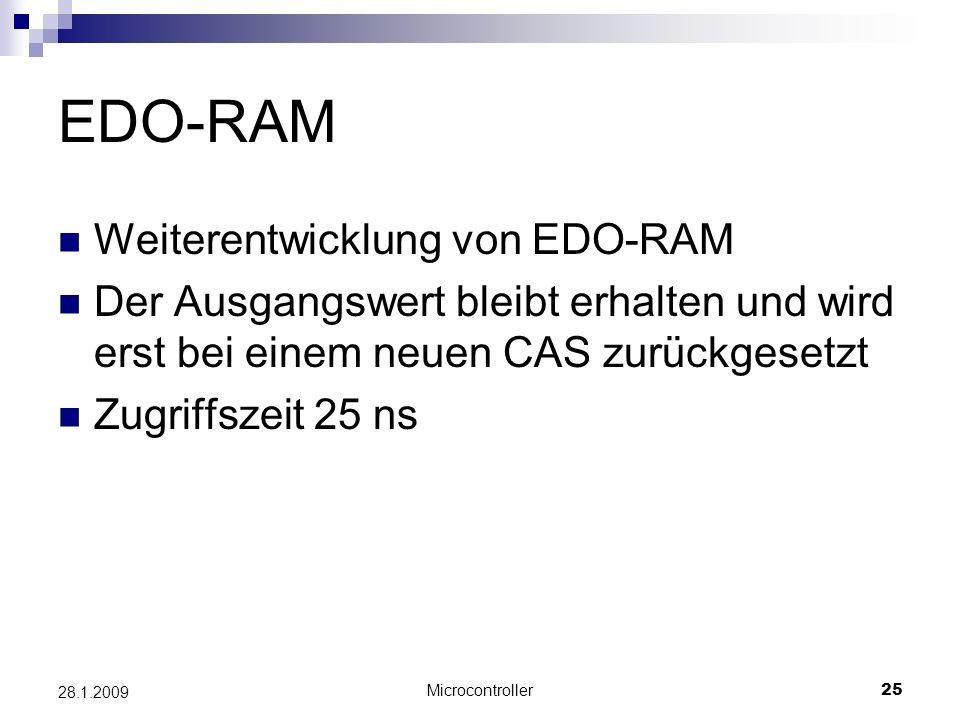 EDO-RAM Weiterentwicklung von EDO-RAM