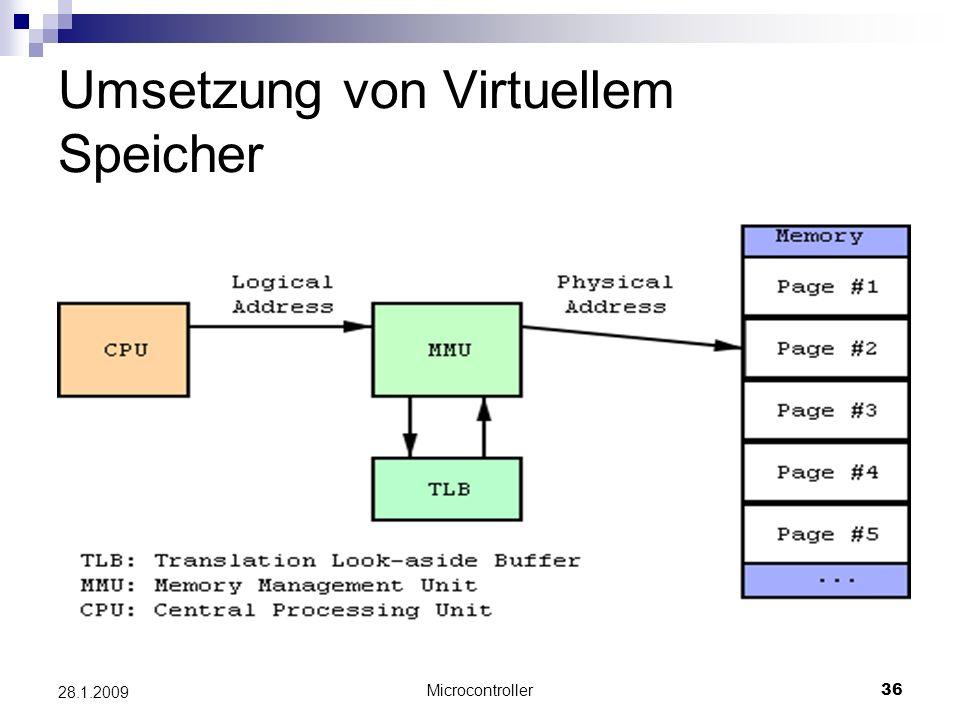 Umsetzung von Virtuellem Speicher