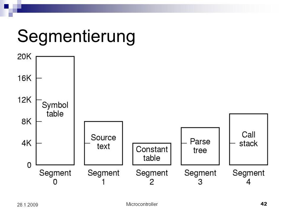 Segmentierung 28.1.2009 Microcontroller