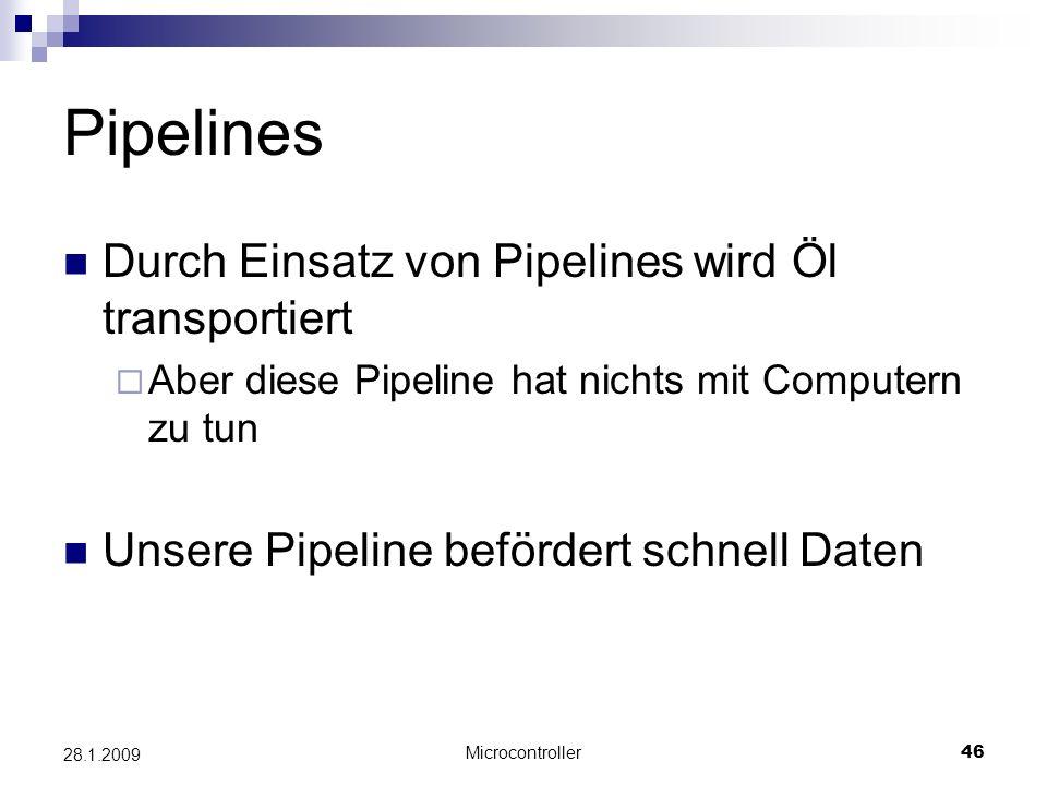 Pipelines Durch Einsatz von Pipelines wird Öl transportiert