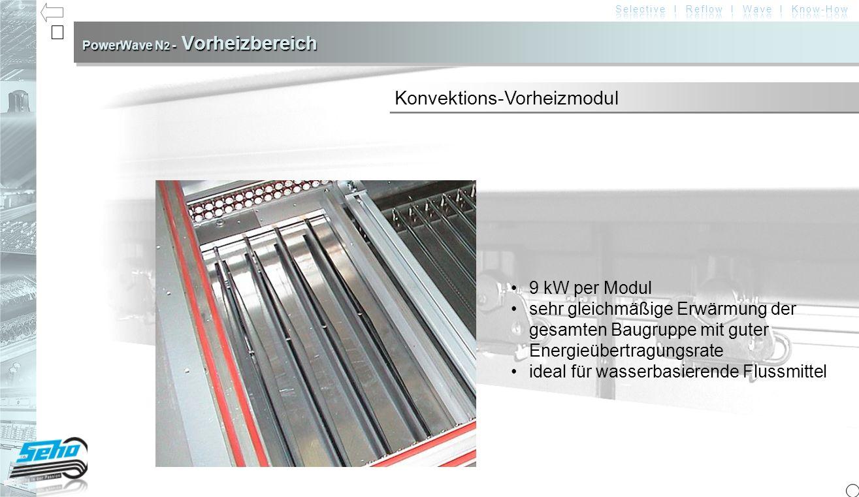 PowerWave N2 - Vorheizbereich