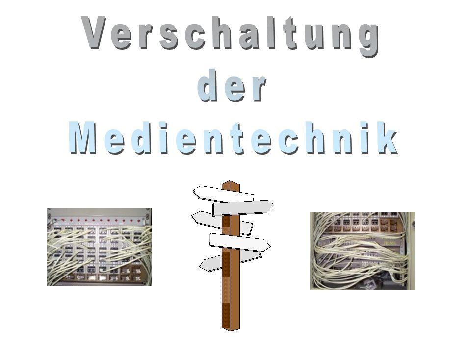 Verschaltung der Medientechnik