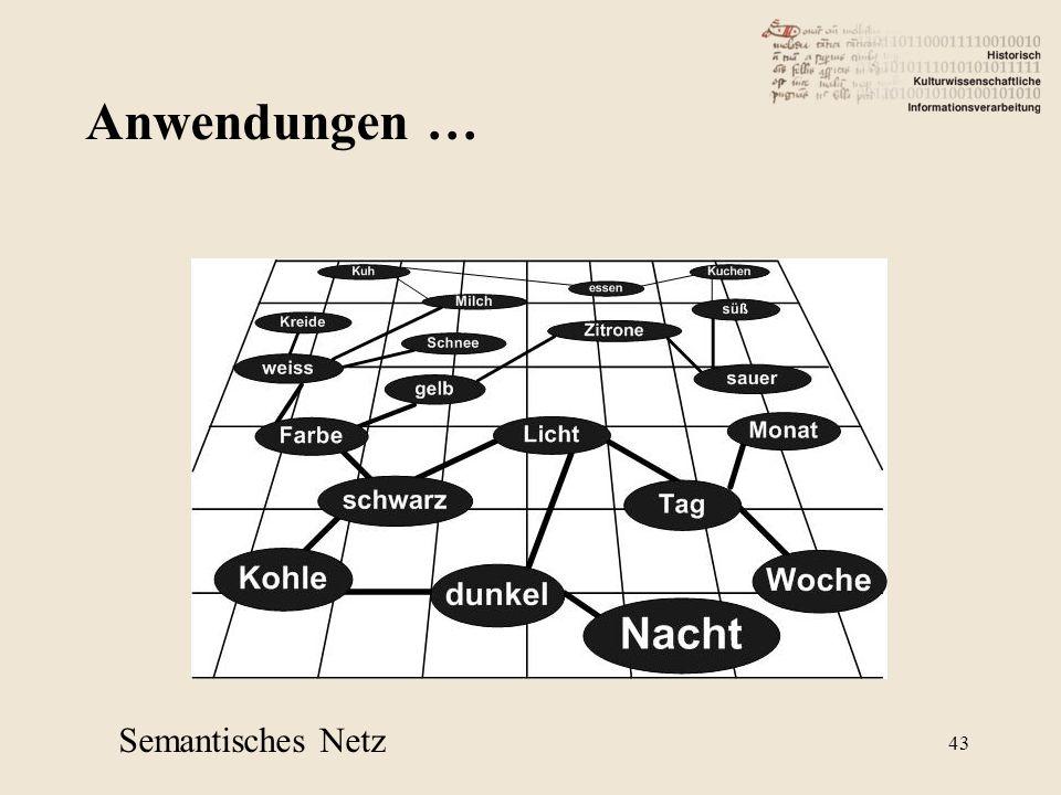 Anwendungen … Semantisches Netz