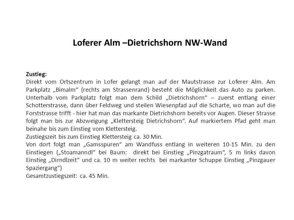 Loferer Alm –Dietrichshorn NW-Wand
