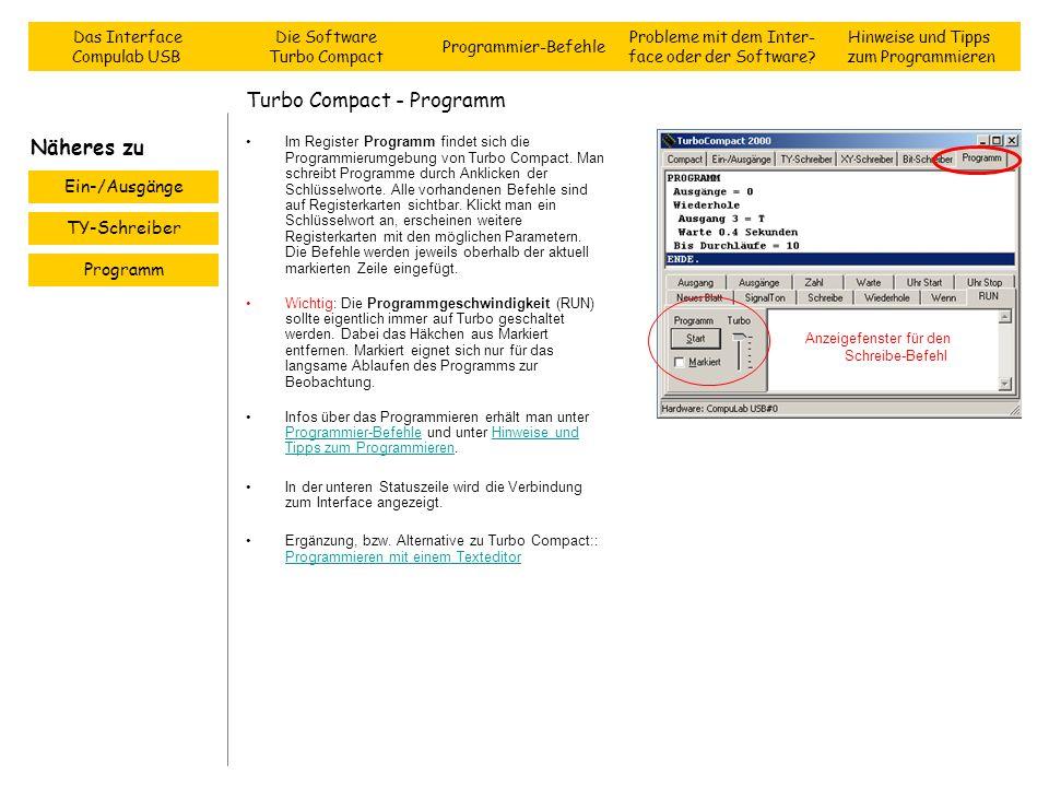 Turbo Compact - Programm