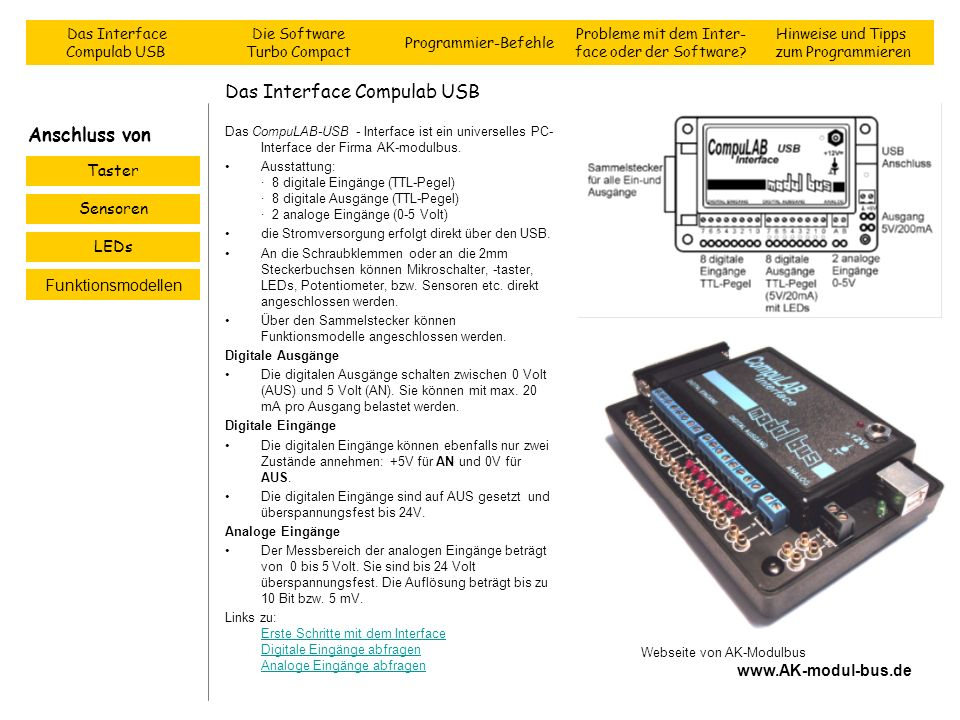 Das Interface Compulab USB