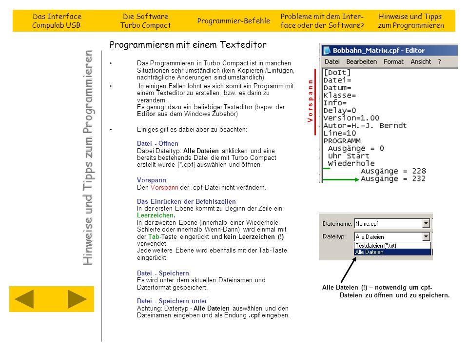 Programmieren mit einem Texteditor