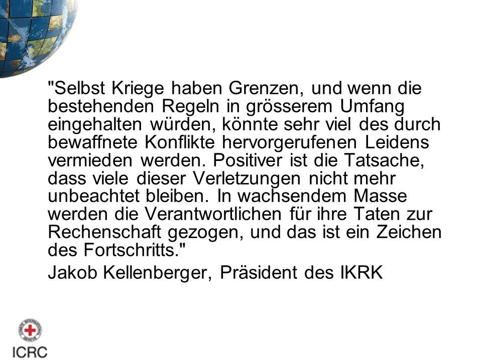 Jakob Kellenberger, Präsident des IKRK