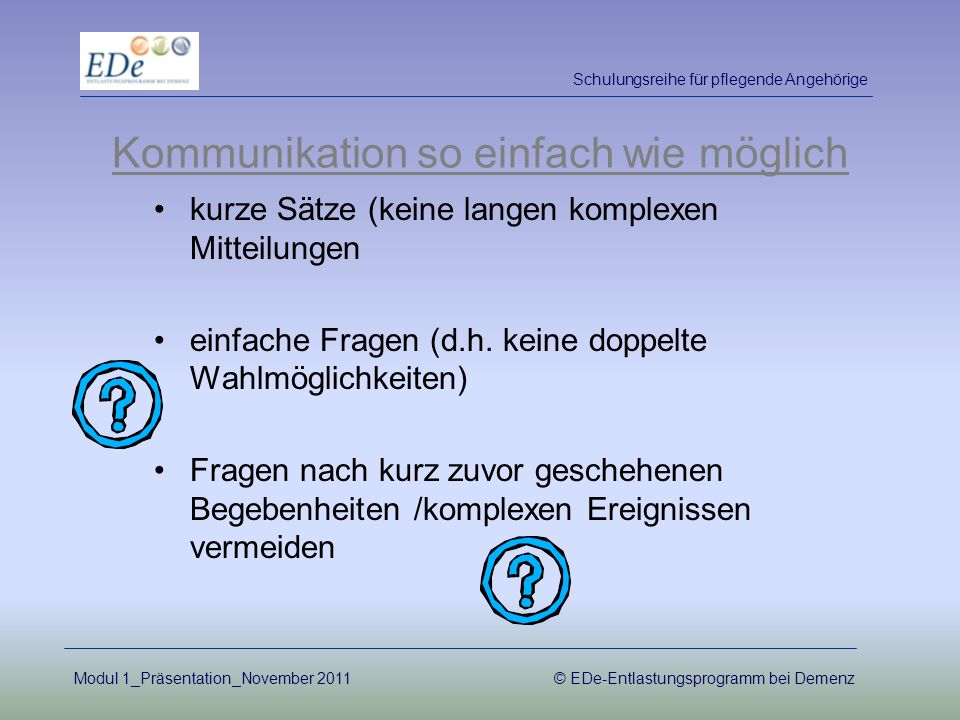 Kommunikation so einfach wie möglich