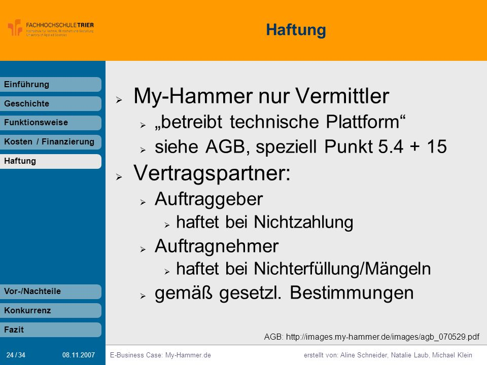 My-Hammer nur Vermittler