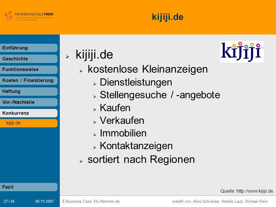 kijiji.de kostenlose Kleinanzeigen sortiert nach Regionen