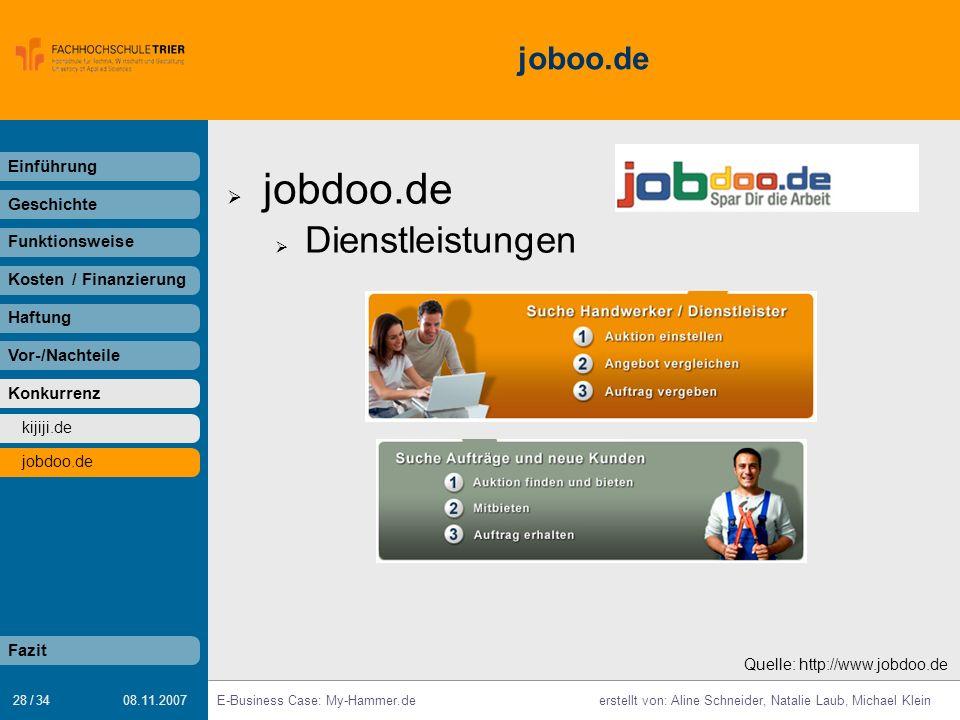 jobdoo.de Dienstleistungen joboo.de