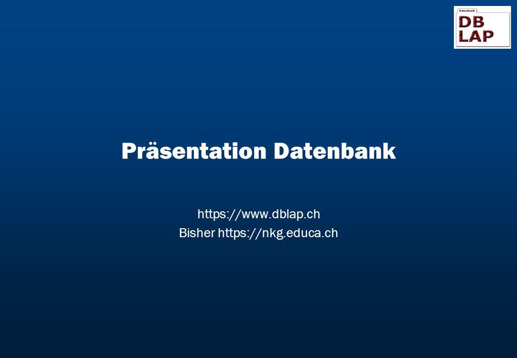 Präsentation Datenbank