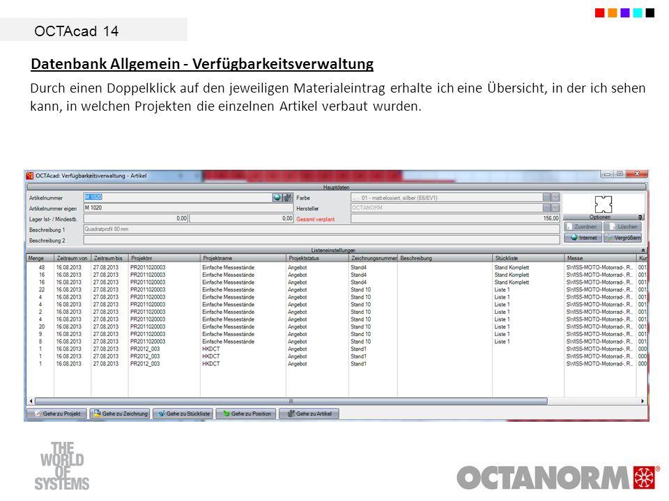 Datenbank Allgemein - Verfügbarkeitsverwaltung