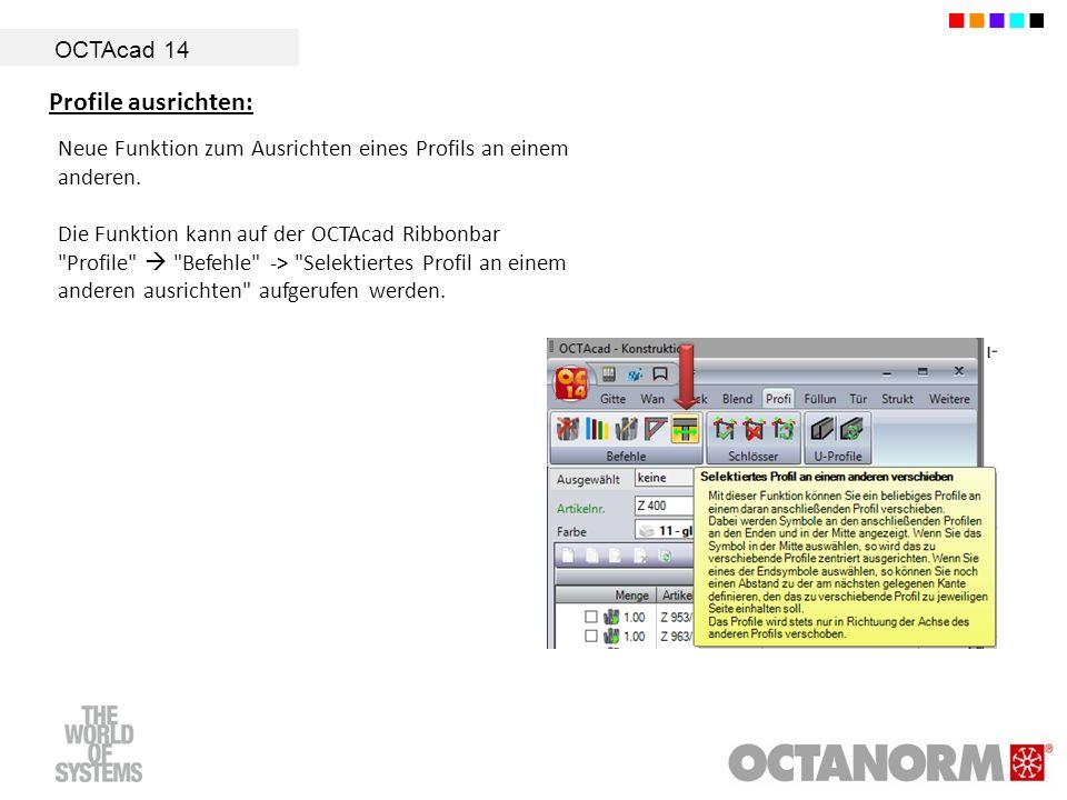 Profile ausrichten: OCTAcad 14