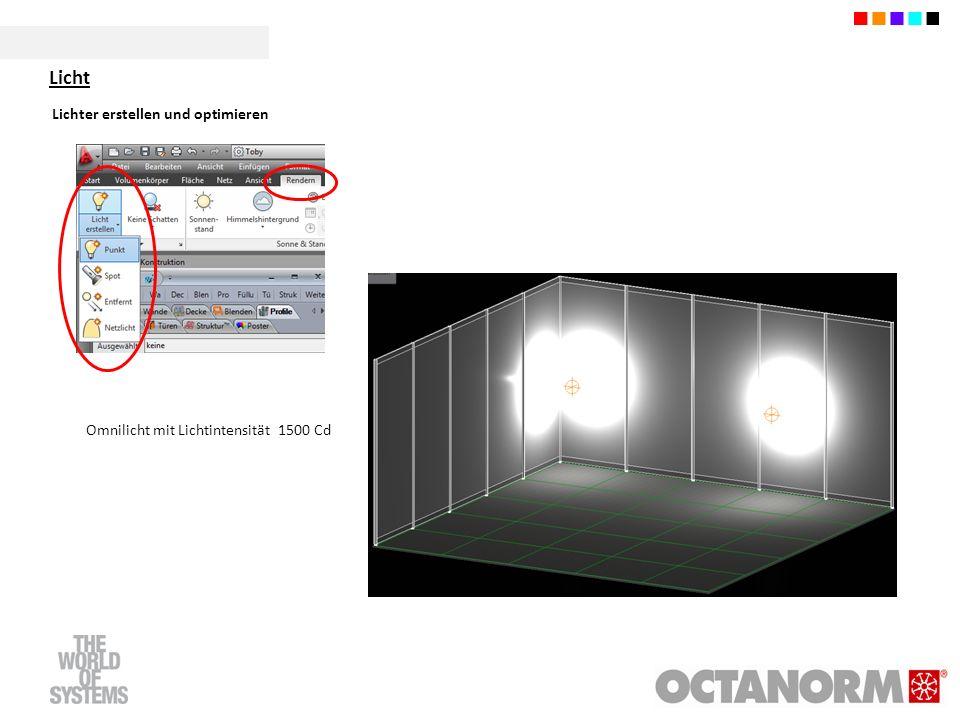 Licht Lichter erstellen und optimieren