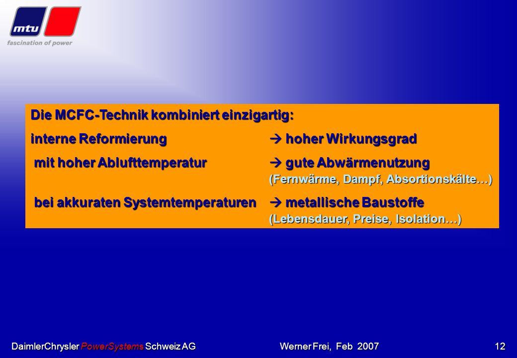 Die MCFC-Technik kombiniert einzigartig: