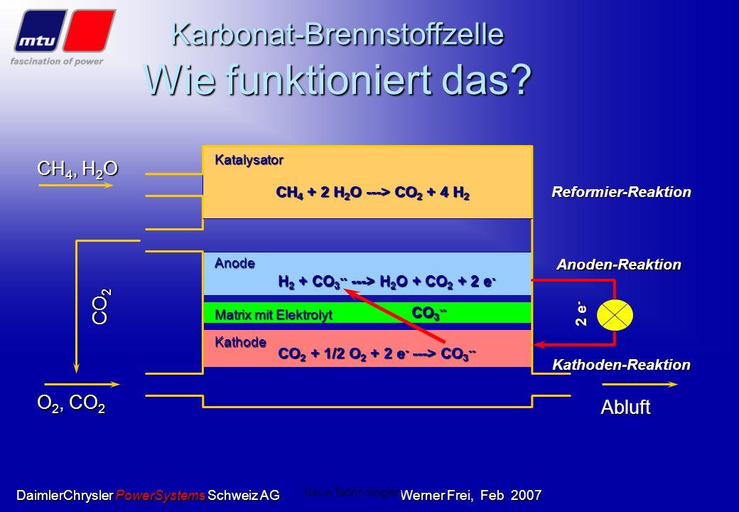 Karbonat-Brennstoffzelle Wie funktioniert das