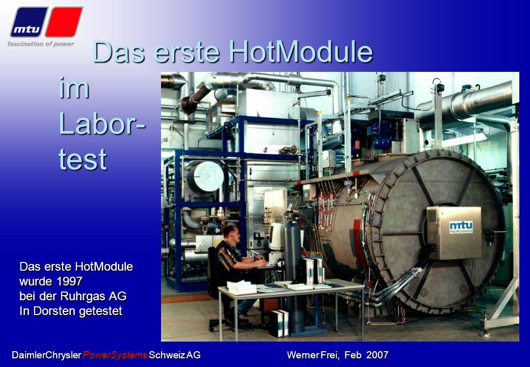 Das erste HotModule im Labor- test