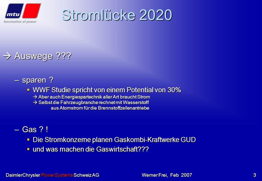 Stromlücke 2020  Auswege sparen Gas !
