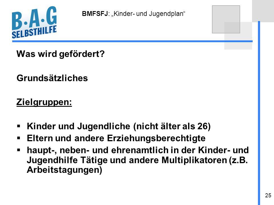 "BMFSFJ: ""Kinder- und Jugendplan"
