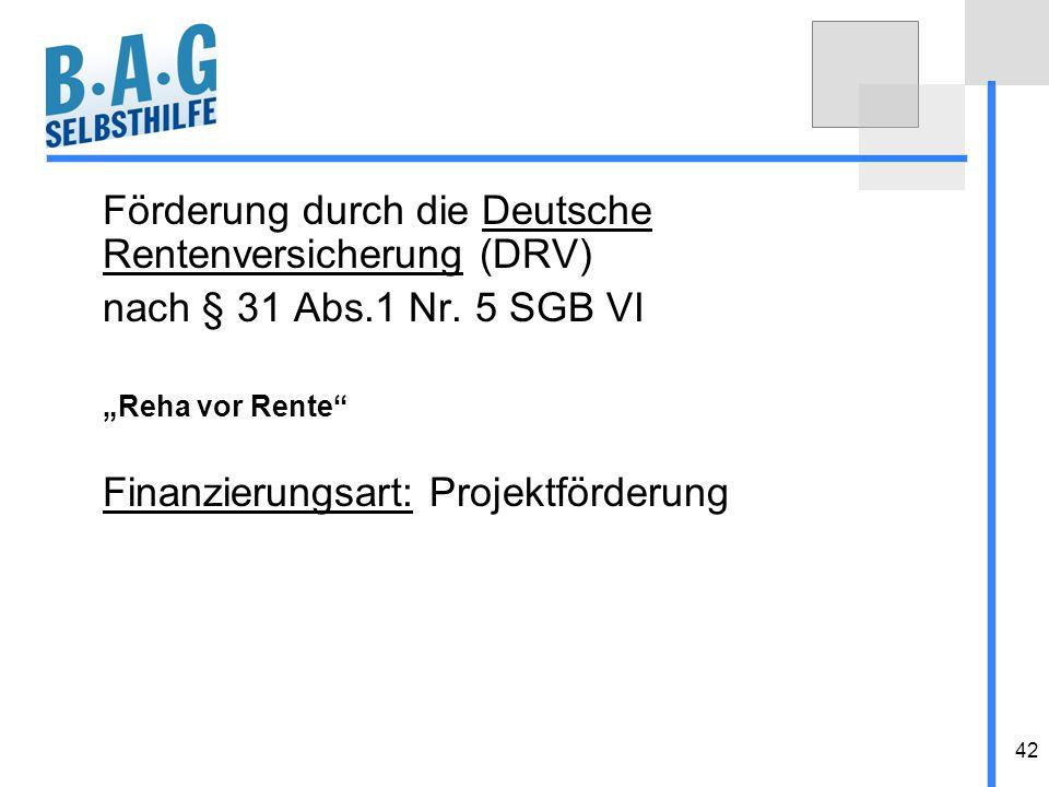 Förderung durch die Deutsche Rentenversicherung (DRV)